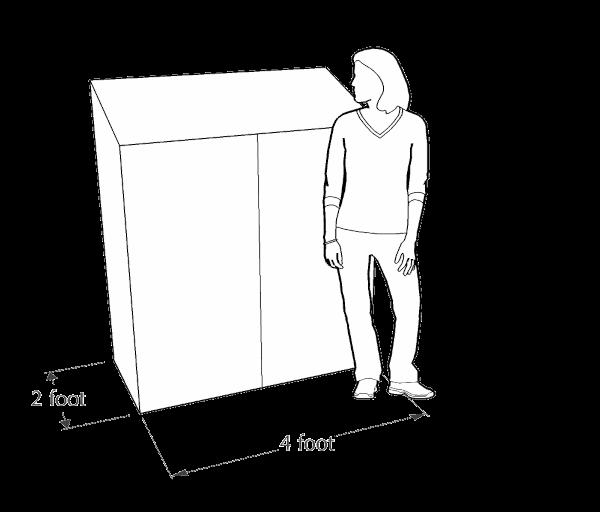 4x2 mini lean-to greenhouse